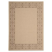 Safavieh Courtyard 4-Foot x 5-Foot 7-Inch Joanna Indoor/Outdoor Rug in Cream/Light Chocolate