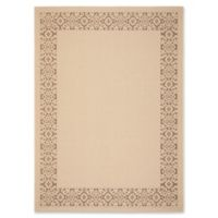 Safavieh Courtyard 8-Foot x 11-Foot Joanna Indoor/Outdoor Rug in Cream/Light Chocolate