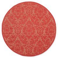 Safavieh Courtyard 6-Foot 7-Inch x 6-Foot 7-Inch Lyla Indoor/Outdoor Rug in Red/Red