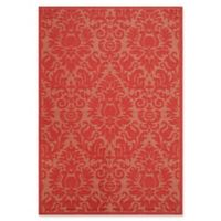 Safavieh Courtyard 8-Foot x 11-Foot Lyla Indoor/Outdoor Rug in Red/Red
