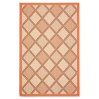 Safavieh Courtyard 6-Foot 7-Inch x 9-Foot 6-Inch Wren Indoor/Outdoor Rug in Cream/Terracotta