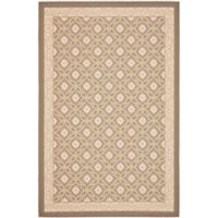 Safavieh Courtyard 2-Foot 7-Inch x 5-Foot Liv Indoor/Outdoor Rug in Beige/Beige
