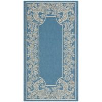 Safavieh Courtyard 2-Foot x 3-Foot 7-Inch Kinley Indoor/Outdoor Rug in Blue/Natural