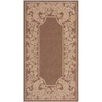 Safavieh Courtyard 2-Foot 7-Inch x 5-Foot Kinley Indoor/Outdoor Rug in Chocolate/Natural