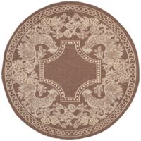 Safavieh Courtyard 5-Foot 3-Inch x 5-Foot 3-Inch Kinley Indoor/Outdoor Rug in Chocolate/Natural