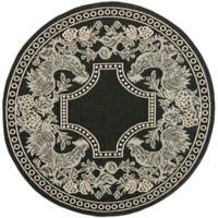 Safavieh Courtyard 6-Foot 7-Inch x 6-Foot 7-Inch Kinley Indoor/Outdoor Rug in Black/Sand