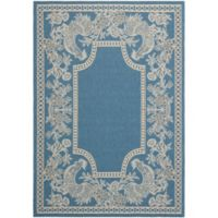 Safavieh Courtyard 8-Foot x 11-Foot Kinley Indoor/Outdoor Rug in Blue/Natural