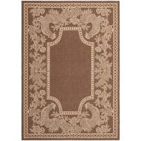 Safavieh Courtyard 8-Foot x 11-Foot Kinley Indoor/Outdoor Rug in Chocolate/Natural