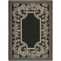 Safavieh Courtyard 8-Foot x 11-Foot Kinley Indoor/Outdoor Rug in Black/Sand