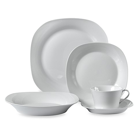 Square White Porcelain 45-Piece Dinnerware Set  sc 1 st  Bed Bath \u0026 Beyond & Square White Porcelain 45-Piece Dinnerware Set - Bed Bath \u0026 Beyond