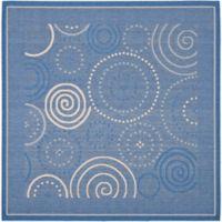 Safavieh Courtyard 6-Foot 7-Inch x 6-Foot 7-Inch Hazel Indoor/Outdoor Rug in Blue/Natural