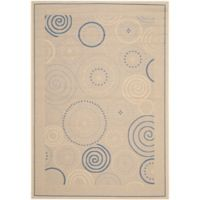 Safavieh Courtyard 6-Foot 7-Inch x 9-Foot 6-Inch Hazel Indoor/Outdoor Rug in Natural/Blue