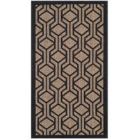 Safavieh Courtyard 2-Foot x 3-Foot 7-Inch Amira Indoor/Outdoor Rug in Brown/Black