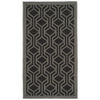 Safavieh Courtyard 2-Foot x 3-Foot 7-Inch Amira Indoor/Outdoor Rug in Black/Anthracite