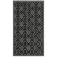 Safavieh Courtyard 2-Foot 7-Inch x 5-Foot Amira Indoor/Outdoor Rug in Black/Anthracite