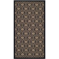 Safavieh Courtyard 2-Foot 7-Inch x 5-Foot Amira Indoor/Outdoor Rug in Brown/Black