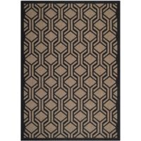 Safavieh Courtyard 4-Foot x 5-Foot 7-Inch Amira Indoor/Outdoor Rug in Brown/Black