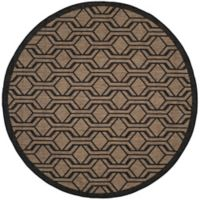 Safavieh Courtyard 7-Foot 10-Inch x 7-Foot 10-inch Amira Indoor/Outdoor Rug in Brown/Black
