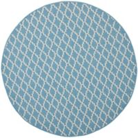 Safavieh Courtyard 7-Foot 10-Inch x 7-Foot 10-inch Anika Indoor/Outdoor Rug in Blue/Beige
