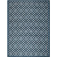 Safavieh Courtyard 8-Foot x 11-Foot Anika Indoor/Outdoor Rug in Navy/Beige