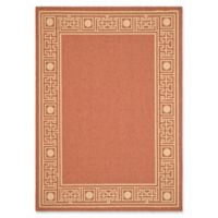 Safavieh Courtyard 6-Foot 7-Inch x 9-Foot 6-Inch Raegan Indoor/Outdoor Rug in Rust/Sand