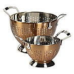 Epicurious 2-Piece Stainless Steel Colander Set in Copper