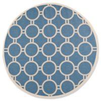 Safavieh Courtyard 7-Foot 10-Inch x 7-Foot 10-inch Jaelyn Indoor/Outdoor Rug in Blue/Beige