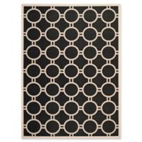Safavieh Courtyard 8-Foot x 11-Foot Jaelyn Indoor/Outdoor Rug in Black/Beige