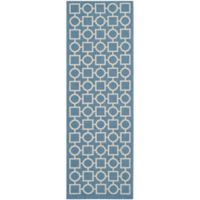 Safavieh Courtyard 2-Foot 3-Inch x 6-Foot 7-Inch Saylor Indoor/Outdoor Rug in Blue/Beige