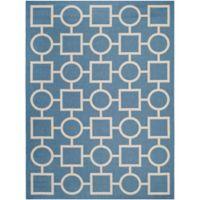 Safavieh Courtyard 8-Foot x 11-Foot Saylor Indoor/Outdoor Rug in Blue/Beige