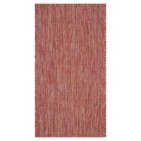 Safavieh Courtyard 2-Foot x 3-Foot 7-Inch Amia Indoor/Outdoor Rug in Red/Red