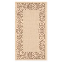 Safavieh Courtyard 2-Foot 7-Inch x 5-Foot Anna Indoor/Outdoor Rug in Natural/Brown