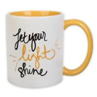 "Formations ""Let Your Light Shine"" Coffee Mug in White/Yellow"