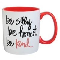 "Formations ""Be Silly Be Honest Be Kind"" Mug in White/Red"