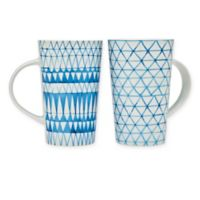 Godinger Village Mugs in Indigo (Set of 2)