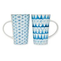 Godinger Urgan Mugs in Indigo (Set of 2)