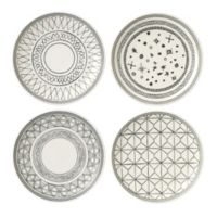 ED Ellen DeGeneres Crafted by Royal Doulton® Grey Lines 6-Inch Plates (Set of 4)
