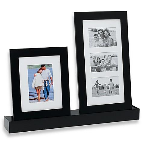 Melannco™ 3-Piece Black Shelf and Frame Set - Bed Bath & Beyond