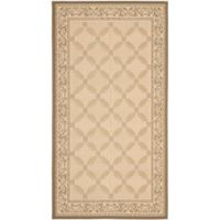 Safavieh Courtyard 2-Foot 7-Inch x 5-Foot Aliza Indoor/Outdoor Rug in Beige/Dark Beige