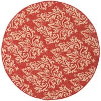 Safavieh Courtyard 5-Foot 3-Inch x 5-Foot 3-Inch Kimber Indoor/Outdoor Rug in Red/Creme