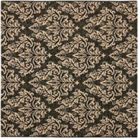 Safavieh Courtyard 6-Foot 7-Inch x 6-Foot 7-Inch Kimber Indoor/Outdoor Rug in Black/Creme