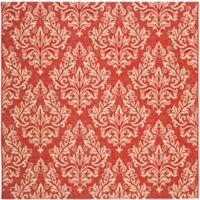 Safavieh Courtyard 6-Foot 7-Inch x 6-Foot 7-Inch Kimber Indoor/Outdoor Rug in Red/Creme
