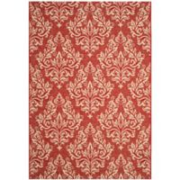Safavieh Courtyard 8-Foot x 11-Foot Kimber Indoor/Outdoor Rug in Red/Creme