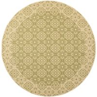Safavieh Courtyard 7-Foot 10-Inch x 7-Foot 10-inch Aleah Indoor/Outdoor Rug in Green/Creme