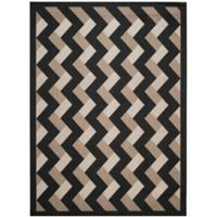Safavieh Courtyard 8-Foot x 11-Foot Amiya Indoor/Outdoor Rug in Black/Brown