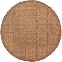 Safavieh Courtyard 6-Foot 7-Inch x 6-Foot 7-Inch Kiera Indoor/Outdoor Rug in Gold/Natural