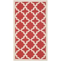 Safavieh Courtyard 2-Foot 7-Inch x 5-Foot Alani Indoor/Outdoor Rug in Red/Bone