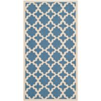Safavieh Courtyard 2-Foot 7-Inch x 5-Foot Alani Indoor/Outdoor Rug in Blue/Beige