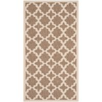 Safavieh Courtyard 2-Foot 7-Inch x 5-Foot Alani Indoor/Outdoor Rug in Brown/Bone