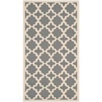 Safavieh Courtyard 2-Foot 7-Inch x 5-Foot Alani Indoor/Outdoor Rug in Anthracite/Beige